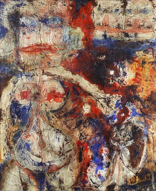 De la Vega, Jorge, Desnudo, 1960 óleo 120x100
