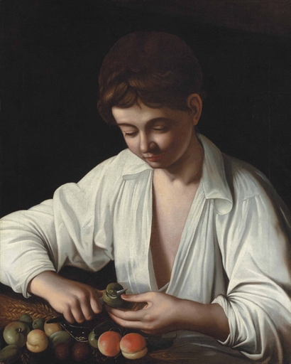 Caravaggio NIño Pelando Fruta