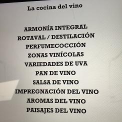 Apuntes de la cocina del vino en El Celler de Can Roca