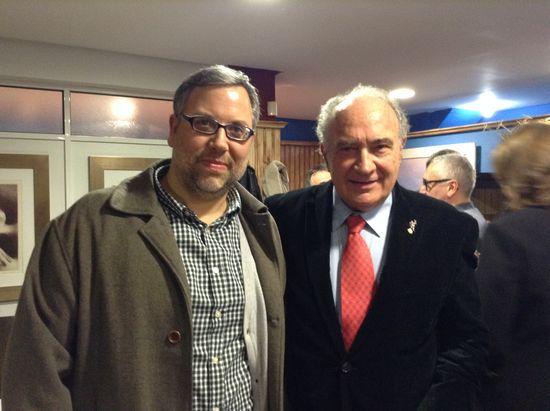Joan Garí i Josep Lluís Albinyana al sopar de la Canella (Borriana, 13-2-15)