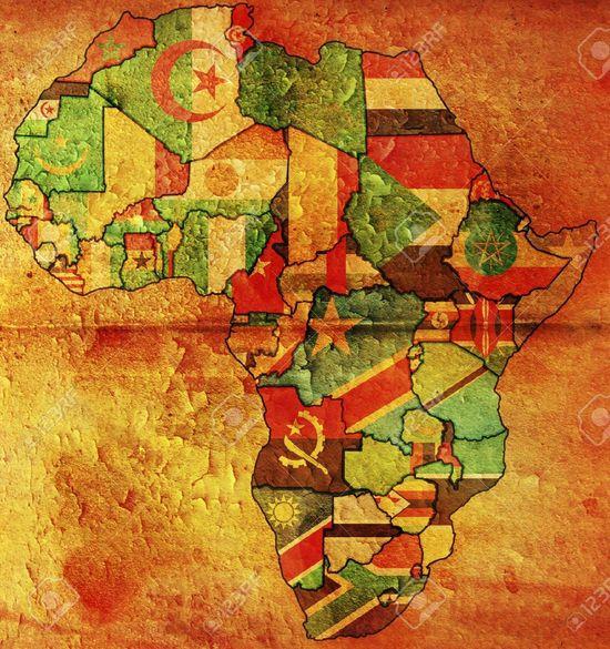 5399750-afrika-politische-landkarte