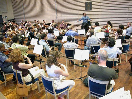 Sala de ensayo de la orquesta