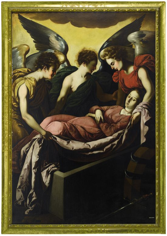 Lot 557, Studio of Francisco De Zurbaran, The Entombment of Saint Catherine on Mount Sinai