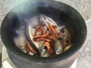 Las caballas hierven a fuego lento durante 8 horas
