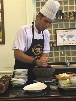 El mortero, utensilio básico en las recetas tailandesas