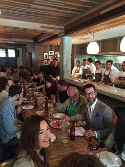 Almuerzo de los cocineros españoles en uno de los restaurantes de José Pizarro