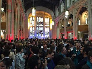 Aspecto de The Guildhall de Londres antes de iniciarse la gala
