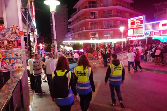 A team walking down punta ballena - the strip re
