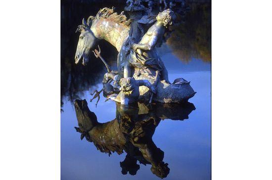 Fuente de la Carrera de Caballos en los jardines de La Granja Segovia-Isidoro Merino