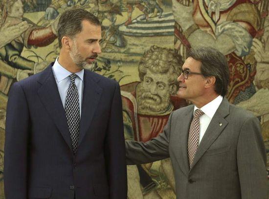 Felip VI i Artur Mas