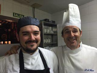 Alejandro Ortiz y L.A. Rivas, cocineros de Bodega del Riojano