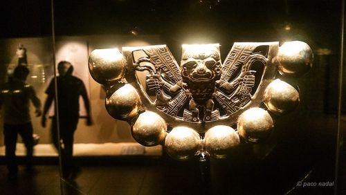 Museo tumbas Reales Sipán, sonajero -Paco Nadal