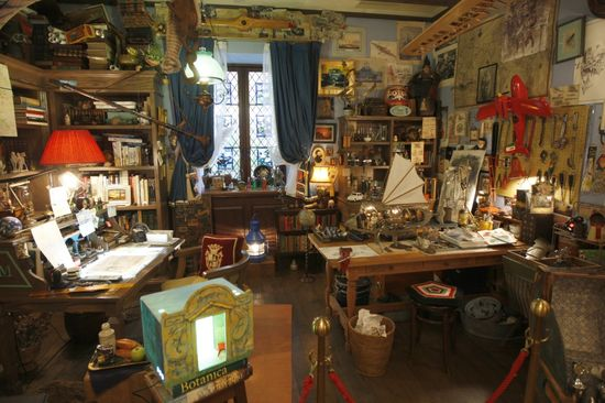 Despacho de Miyazaki en el museo Ghibli de Tokio.  EL PAÏS  Santos Cirilo