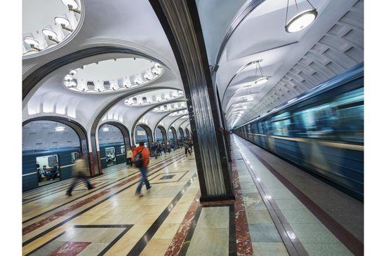 La estación Mayakovskaya del metro de Moscú. Jon Hicks-Corbis