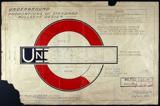 Diseño logo metro de Londres