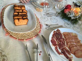 Mesa del almuerzo con los aperitivos