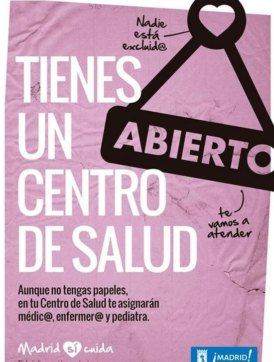 Cartel campaña Madrid sí cuida