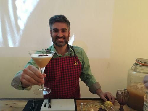 Diego Cabrera, coctelero argentino que quiso sumarse a la cena