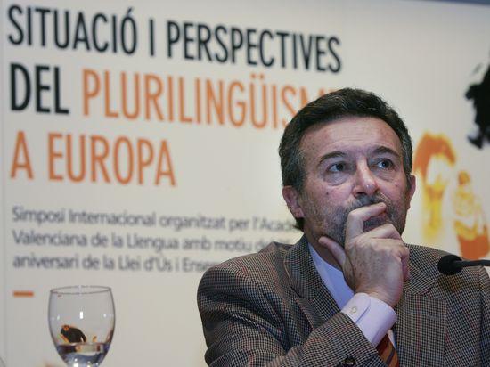 Josep Palomero, durant un simposi a València