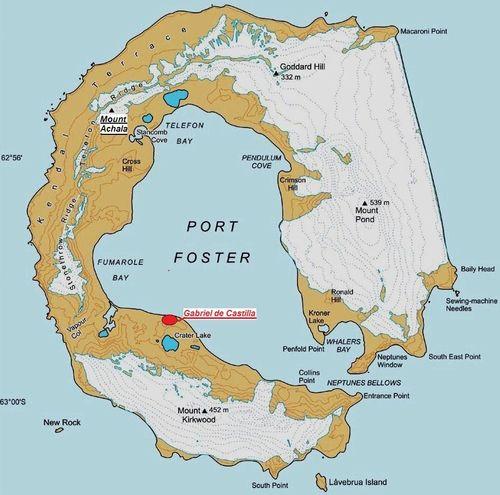 Mapa de la isla Decepción