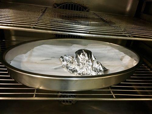 En el horno durante la primera fase del asado