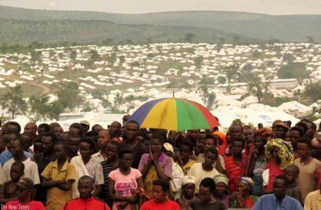 Refugiados burundeses en el campo de Mahama