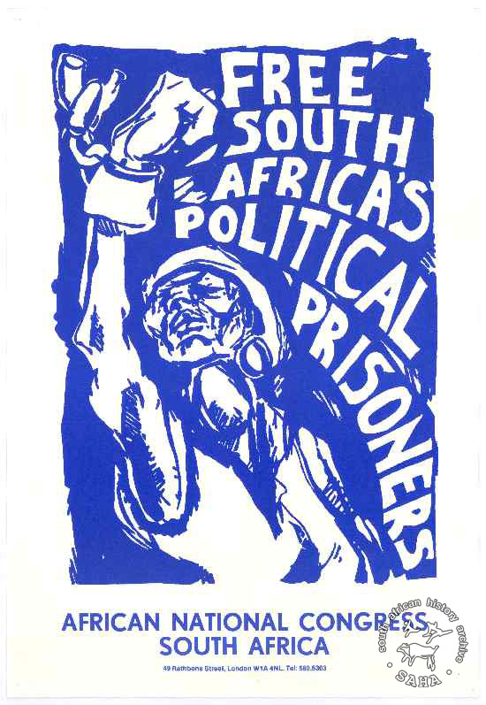 Free south africa`s political prisioners.