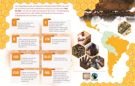 Pequeños productores de miel de comercio justo de América Latina