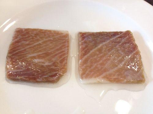 El atún de ijar ya curado, el jamón del mar