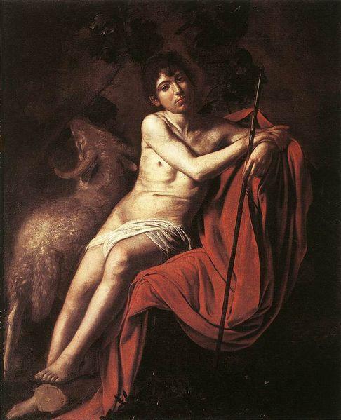 Caravaggio_Baptist_Galleria_Borghese,_Rome