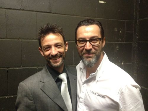 Quique Dacosta con su jefe de sala Didier Fertilatti