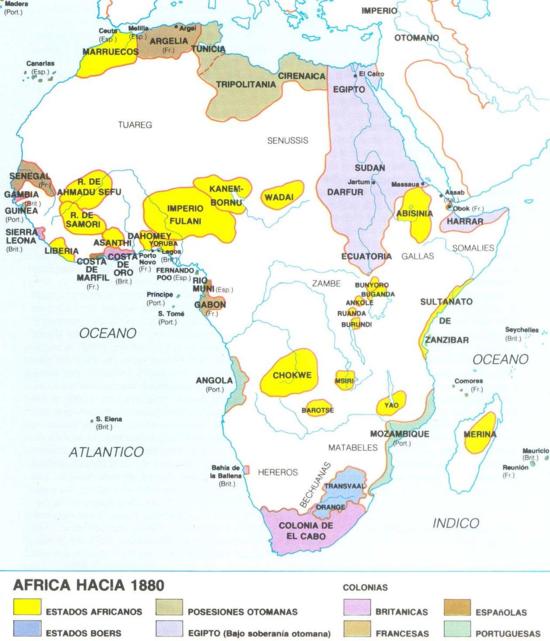 Africa en 1880