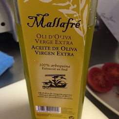 Aceite de oliva virgen extra de la variedad arbequina