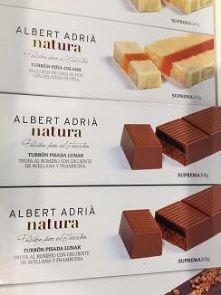 Colección de turrones, línea Natura de Albert Adrià