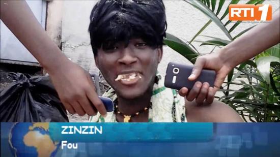 Zin Zin le fou entrevistado en las noticias sobre la carestia de los productos en el mercado