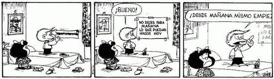 Mafalda, mañana-hoy
