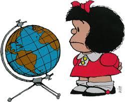 Mafalda globo terraqueo