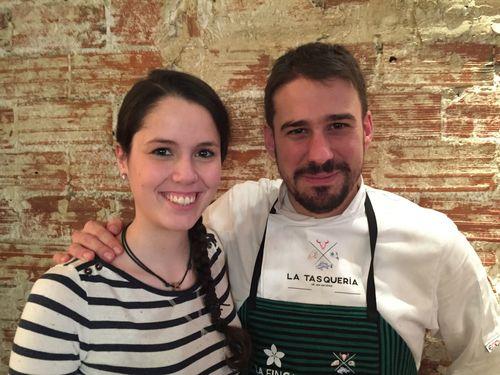 Clara Villalón y Javi Estèvez, sala y cocina de La Tasquería, caras populares por su participación en Master Chef y Top Chef, respectivamente