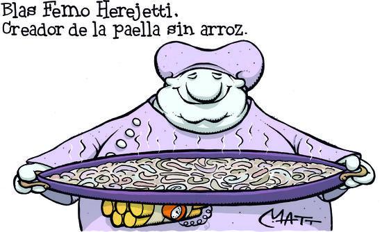 Paella sin arroz