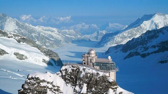 La estación de Eggishorn, última parada del tren de Jungfrau -Turismo de Suiza.