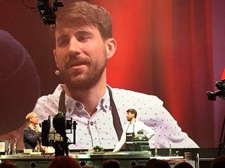 El cocinero Giorgo Ravelli en el escenario de L´Omnivore