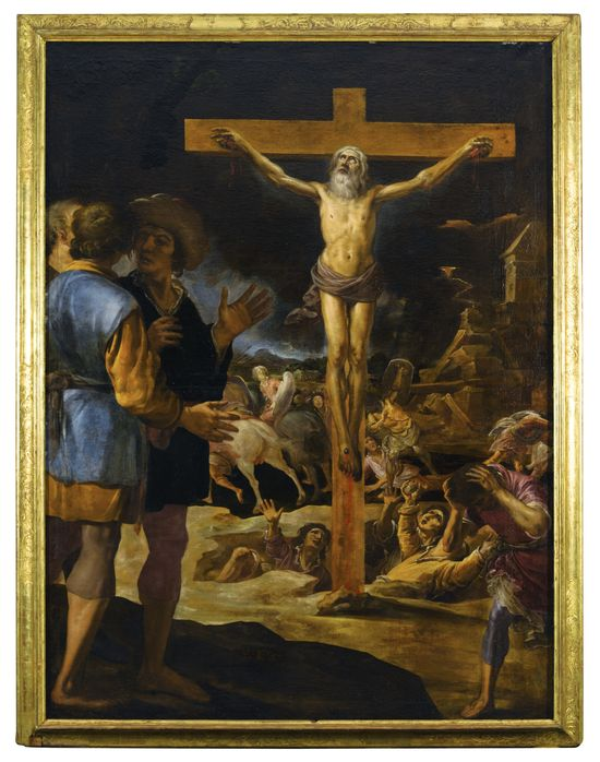 Lot 560, Eugenio Cajes, The Crucifixion of a Male Saint, Possibly Saint Philip