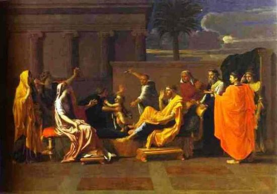 Nicolas-Poussin-Baby-Moses-Trampling-on-the-Pharaoh_s-Crown