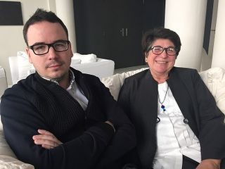 La investigadora Rosa Tovar junto con Paco Morales, en el Hotel de las Letras en Madrid