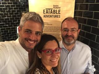 Los tres socios de EatableAdventures.