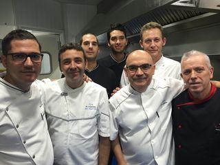 José Melero con su equipo. José Manuel Nuñez, Juan Manuel Varo y Julio Vázquez entre otros.