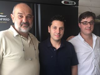 Alberto Domezain, Diego Gallegos y David Montalbán. Riofrío