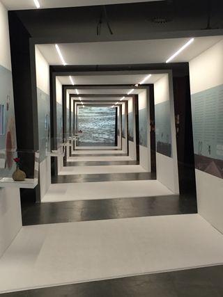 Espiral que acoge la exposición Paisajes transformados