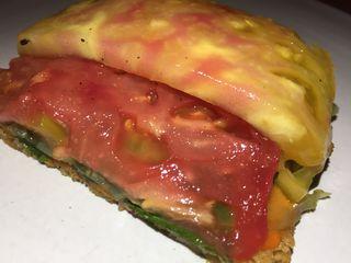 Tomate en distintas texturas, plato de Semilla