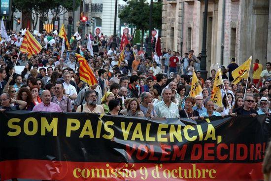 Manifestació del 9 d'Octubre a València